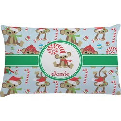 Christmas Monkeys Pillow Case (Personalized)