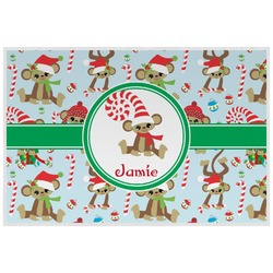 Christmas Monkeys Placemat (Laminated) (Personalized)