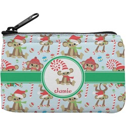 Christmas Monkeys Rectangular Coin Purse (Personalized)
