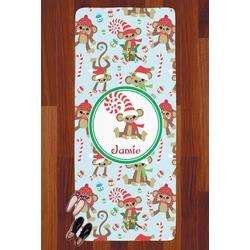 Christmas Monkeys Runner Rug - 3.66'x8' (Personalized)
