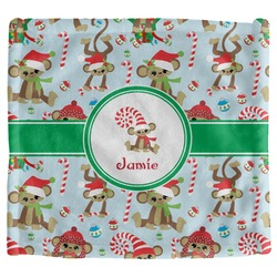 Christmas Monkeys Security Blanket (Personalized)