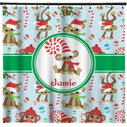 Christmas Monkeys Shower Curtain (Personalized)