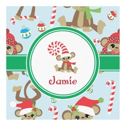 Christmas Monkeys Square Decal - Custom Size (Personalized)