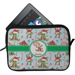 Christmas Monkeys Tablet Case / Sleeve (Personalized)