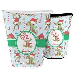 Christmas Monkeys Waste Basket (Personalized)