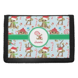Christmas Monkeys Trifold Wallet (Personalized)