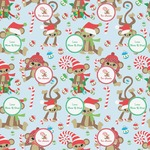Christmas Monkeys Wrapping Paper (Personalized)