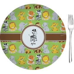 "Safari Glass Appetizer / Dessert Plates 8"" - Single or Set (Personalized)"