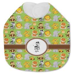Safari Jersey Knit Baby Bib w/ Name or Text