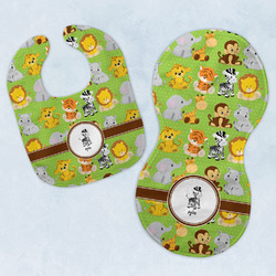 Safari Baby Bib & Burp Set w/ Name or Text