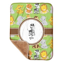 "Safari Sherpa Baby Blanket 30"" x 40"" (Personalized)"