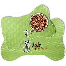 Safari Bone Shaped Dog Food Mat (Personalized)