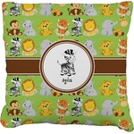 Safari Faux-Linen Throw Pillow (Personalized)