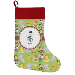 Safari Holiday Stocking w/ Name or Text