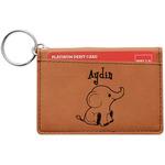Safari Leatherette Keychain ID Holder (Personalized)