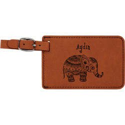 Safari Leatherette Luggage Tag (Personalized)