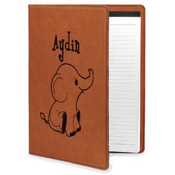 Safari Leatherette Portfolio with Notepad - Large - Single Sided (Personalized)