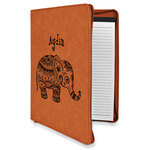 Safari Leatherette Zipper Portfolio with Notepad (Personalized)