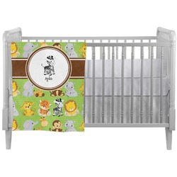 Safari Crib Comforter / Quilt (Personalized)