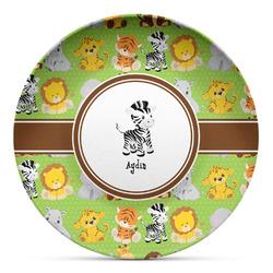 Safari Microwave Safe Plastic Plate - Composite Polymer (Personalized)