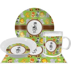 Safari Dinner Set - 4 Pc (Personalized)