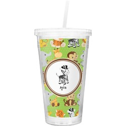 Safari Double Wall Tumbler with Straw (Personalized)