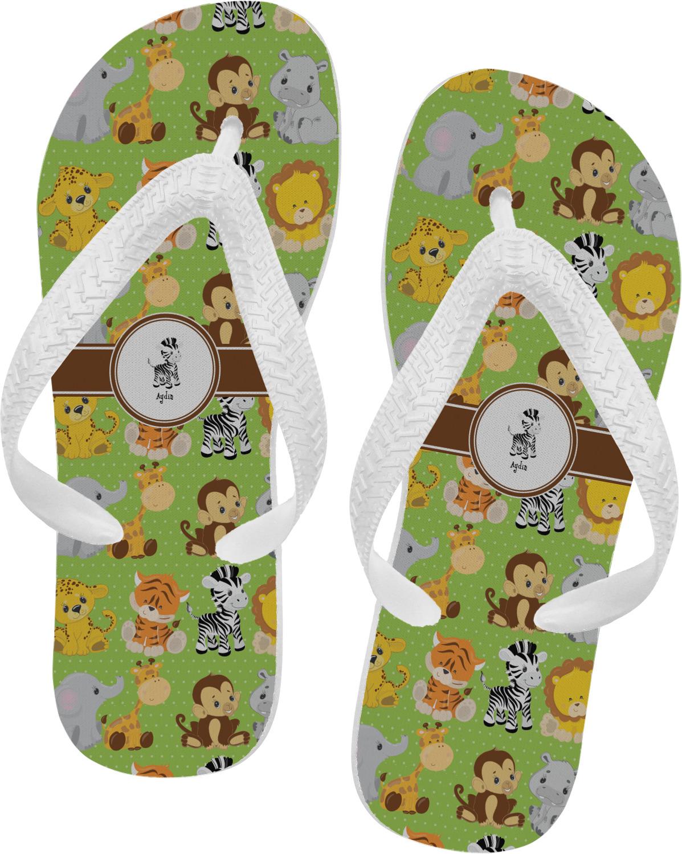c5c81c322984 Safari Flip Flops (Personalized) - YouCustomizeIt