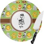 Safari Round Glass Cutting Board (Personalized)