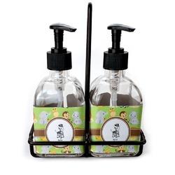 Safari Soap & Lotion Dispenser Set (Glass) (Personalized)