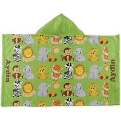 Safari Kids Hooded Towel (Personalized)