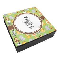 Safari Leatherette Keepsake Box - 8x8 (Personalized)