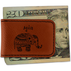 Safari Leatherette Magnetic Money Clip (Personalized)