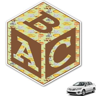 Safari Monogram Car Decal (Personalized)