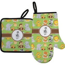 Safari Oven Mitt & Pot Holder (Personalized)