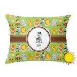 Safari Outdoor Throw Pillow (Rectangular) (Personalized)