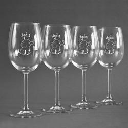 Safari Wine Glasses (Set of 4) (Personalized)
