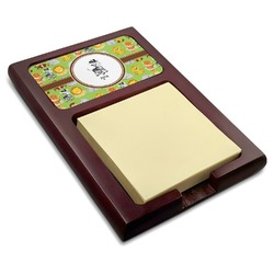 Safari Red Mahogany Sticky Note Holder (Personalized)