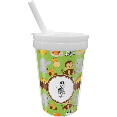 Safari Sippy Cup with Straw (Personalized)