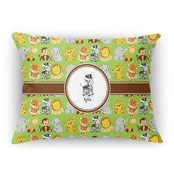 Safari Rectangular Throw Pillow Case (Personalized)