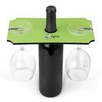 Safari Wine Bottle & Glass Holder (Personalized)