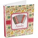 Vintage Musical Instruments 3-Ring Binder (Personalized)
