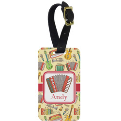Vintage Musical Instruments Aluminum Luggage Tag (Personalized)