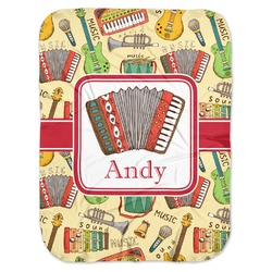 Vintage Musical Instruments Baby Swaddling Blanket (Personalized)
