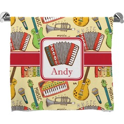 Vintage Musical Instruments Full Print Bath Towel (Personalized)