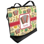 Vintage Musical Instruments Beach Tote Bag (Personalized)