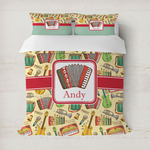 Vintage Musical Instruments Duvet Covers (Personalized)