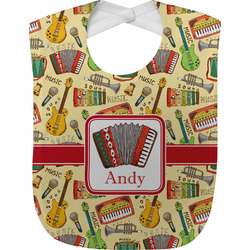 Vintage Musical Instruments Baby Bib (Personalized)