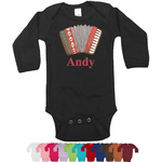 Vintage Musical Instruments Bodysuit - Black (Personalized)