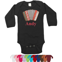 Vintage Musical Instruments Bodysuit - Long Sleeves - 12-18 months (Personalized)