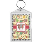 Vintage Musical Instruments Bling Keychain (Personalized)